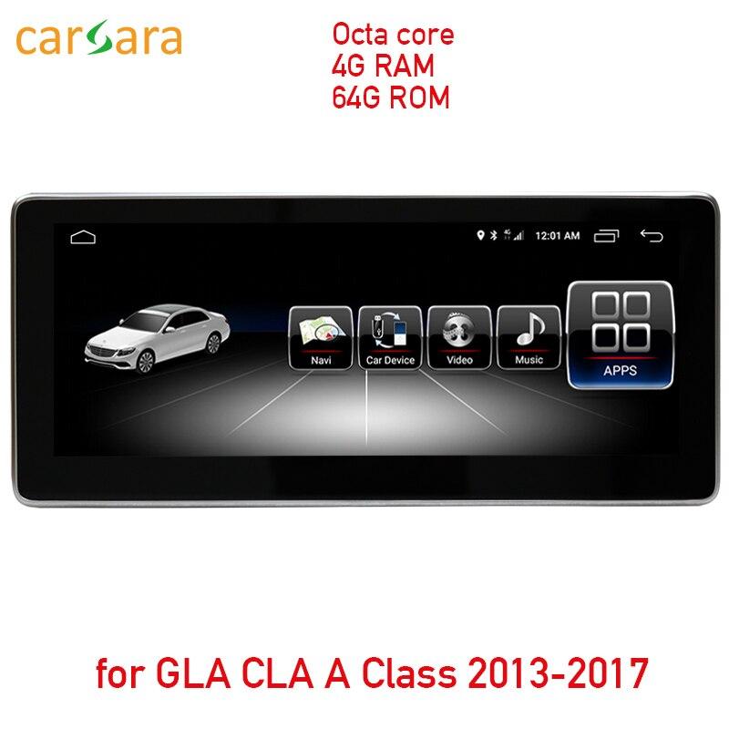 10.25 4G RAM 64G ROM écran tactile android pour CLA GLA Une Classe W176 2013-2018 radio gps tableau de bord stéréo lecteur multimédia