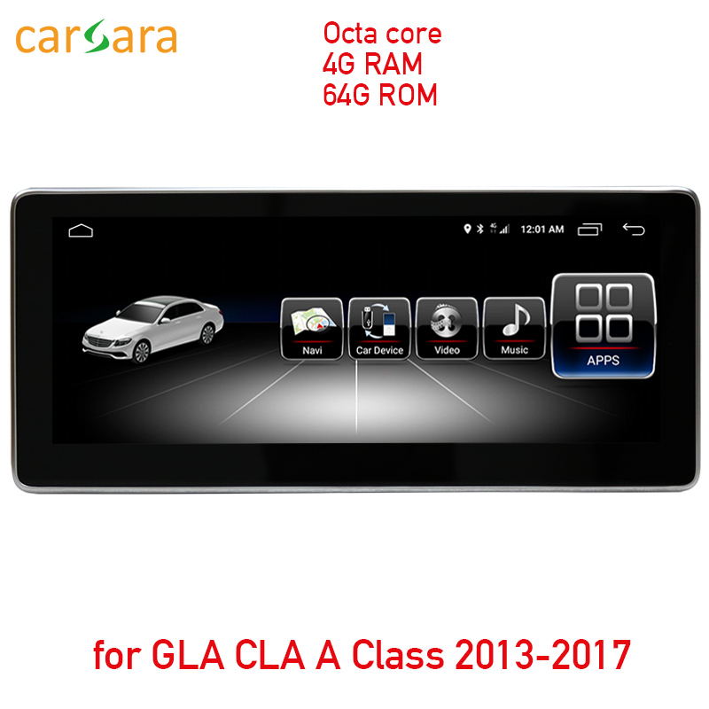 10,25 4G RAM 64g ROM Android Сенсорный экран для CLA GLA класс W176 2013-2017 gps навигация Радио стерео тире мультимедийный плеер