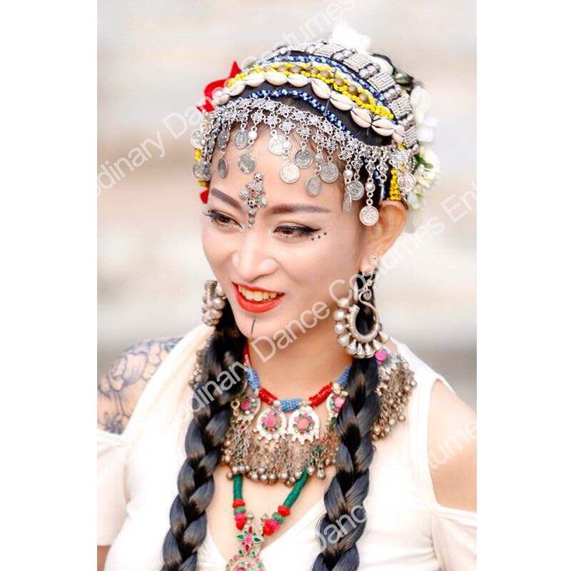 Handmade Tribal Style Dancing Accessory Headwear Jewelry Adult Women's Traditional Dance Performance Jewelry Headwear ATS01106