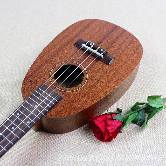 Concert Ukulele 23 Inch Hawaiian Pineapple Guitar 4 Strings Ukelele Guitarra Handcraft Wood Mahogany Musical Instruments Uke