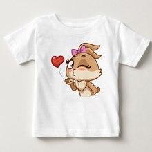Футболка для маленьких девочек рубашка больших детская блузка