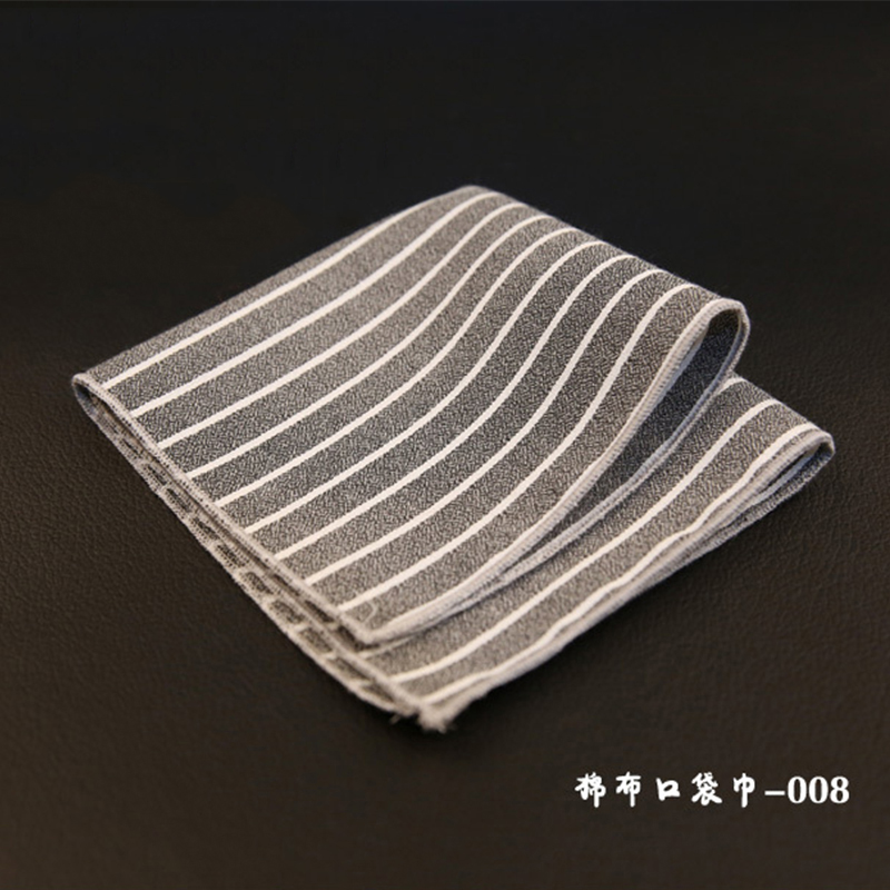 Striped & Plaid Mens Handkerchiefs Brand Classic Cotton Pocket Towel Hanky Formal Business Suits Chest Towel Gifts
