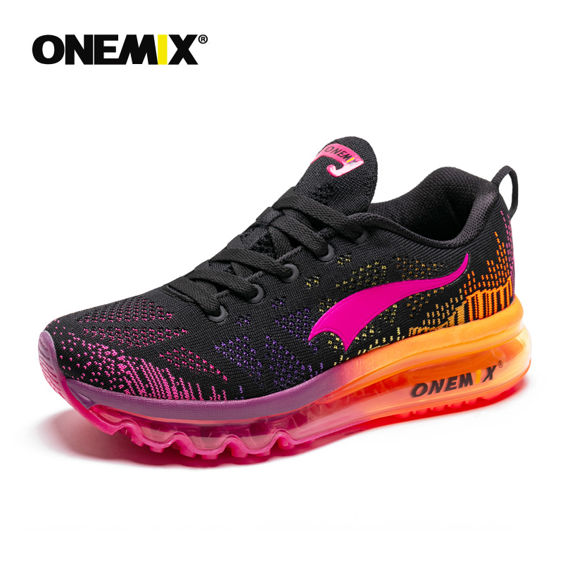 ONEMIX Women s Sport Running Shoes Lady Walking Shoes Breathable Mesh Women Athletic Shoes Free Shipping