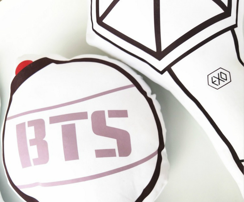 Humor Kpop Bts Exo Got7 Twice Army Light Stick Plush Wands Throw Pillow Cute Sofa Cushion New 2018 Fashion Novelty & Special Use