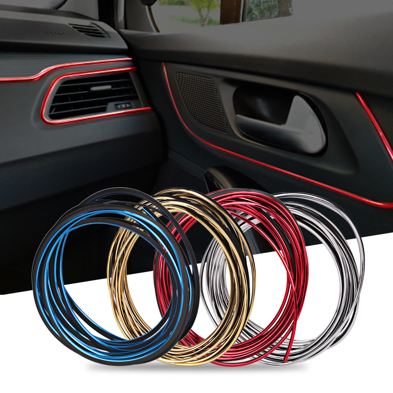 5M Car Strips Moulding for Audi A4 B5 B6 B8 A6 C5 C6 A3 A5 Q3 Q5 Q7 BMW E46 E39 E36 E60 E34 E30 F30 X5 E53 Styling Accessories