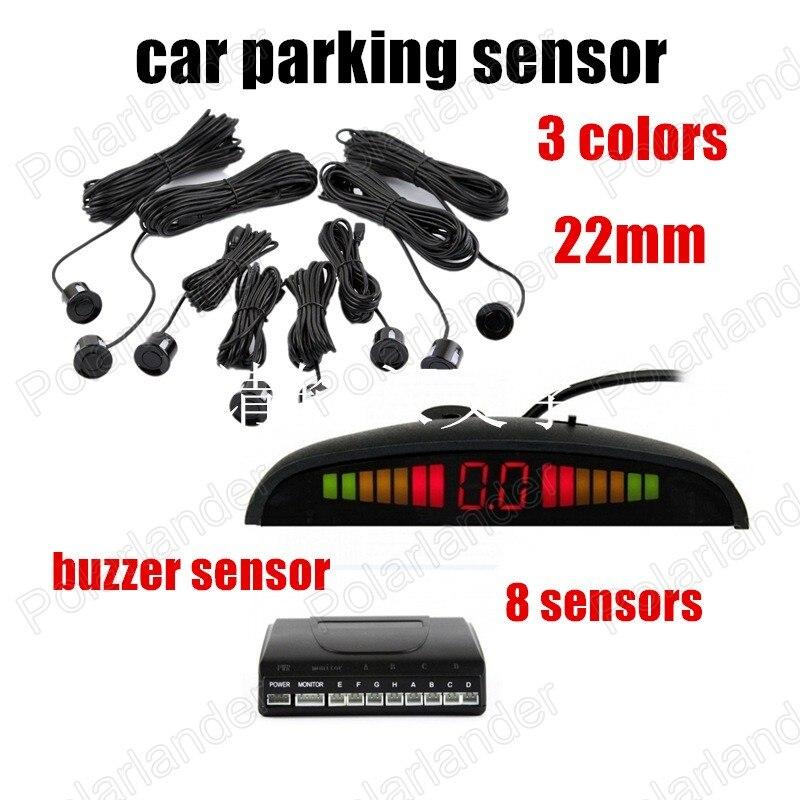 Livraison gratuite son alarme indicateur 8 capteurs 22mm 3 couleurs 12 V voiture Parking capteur moniteur système de recul Radar