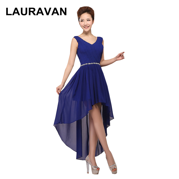 front short long back high low sleeveless royal blue red hot pink purple   prom     dresses   with corset back girls birthday gowns