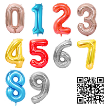 1pc 16/40inch Aluminium Foil Number Ballons Accessories Kids Event Festive Supplies Birthday Party Decoration Wedding Balloons