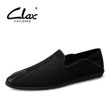 CLAX Mens Moccasins Genuine Leather 2019 Summer Man Shoes Flats Casual Footwear Male Loafers Boat Shoe