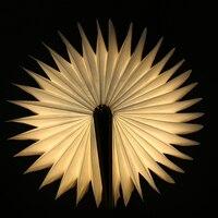 LED Innovative Foldable Wooden Book Shape Desk Lamp 5V/300mA USB Rechargeable Folding Book Reading Light Creative