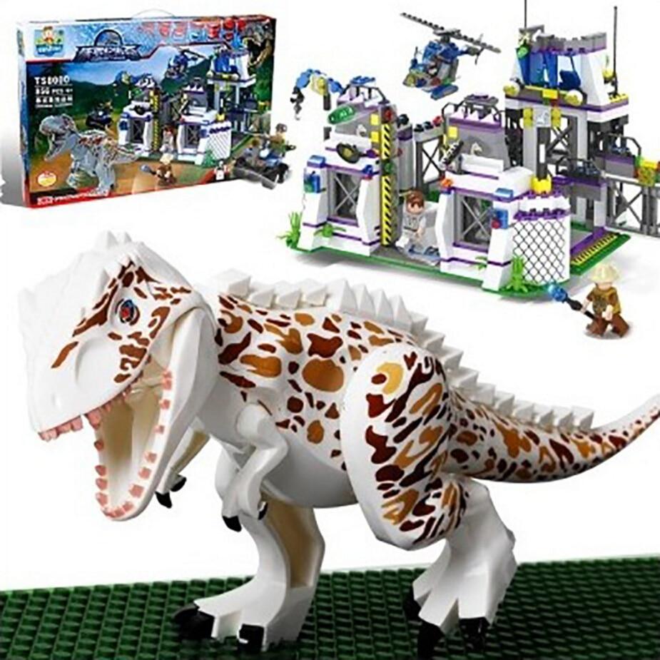 TS8000 Violent Brutal Dinosaur Indominus Rex Breako Jurassic Dinosaur World Building Block Toys Compatible With 75930