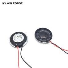 лучшая цена 2pcs/lot New Ultra-thin speaker 1 ohms 8 watt 1W 8R speaker Diameter 28MM 2.8CM thickness 5MM with wire length 13CM