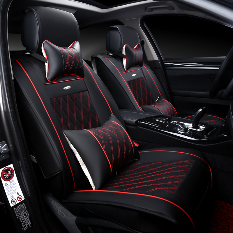 2017 New 6D Car Seat Cover,Senior Leather,,Sport Car Styling,Car ...