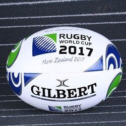 1 Peça Nova Zelândia Padrão 2017 Tamanho de uma Bola de Rugby 5 # PU Para O Jogo e Treinamento de Rugby Da Escócia bola de futebol americano