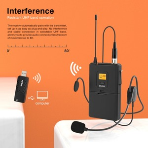 Image 2 - Fifine kablosuz yaka mikrofonu PC ve Mac için, kondenser mikrofon için USB alıcısı ile görüşme, kayıt ve Podcast