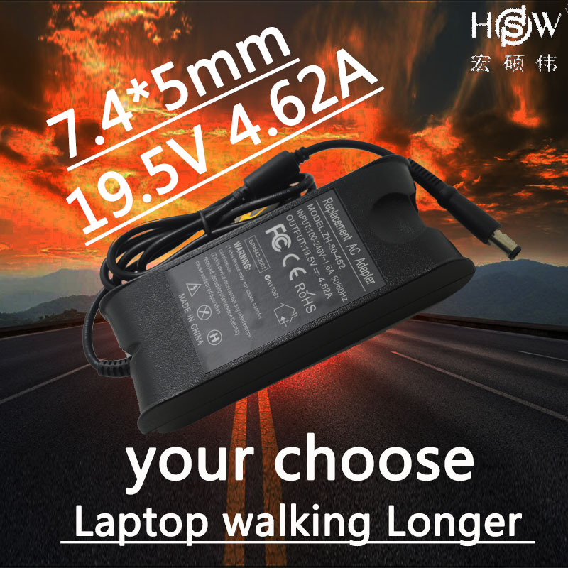 HSW Ac Power Adapter Pour Dell Inspiron N5030 N5110 N7010 1440 PP41L PP42L E1501 1720 19.5 v 4.62A Chargeur Pour dell Latitude E6410