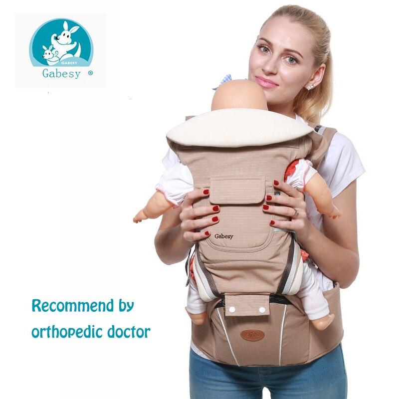 Gabesy Ergonômico Mochila Transportadora Hipseat Portador de Bebê para recém-nascidos e evitar o-pernas tipo de sling bebê Cangurus