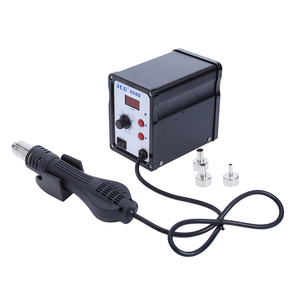 858D 700W AC 24V LED Digital Dsplay Chinaware Heating Air Demolition Welding Station Digital Control Temperature EU кaреткa toyota ks 858