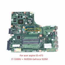 new! A4WAB LA-C341P For acer aspire E5-473 laptop motherboard I7-5500U +NVIDIA GeForce 920M
