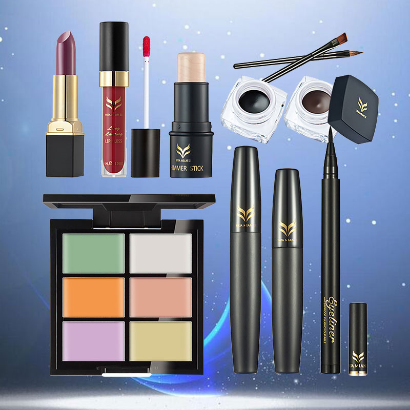 Multiple Cosmetic Makeup Sets Lipstick Lipgloss Concealer Mascara Combinations Kit 233g