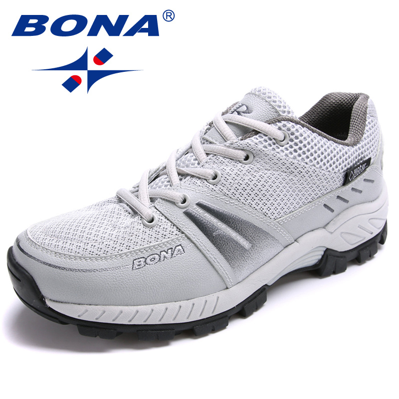 $32.97 BONA New Typical Style Men Running Shoes Outdoor Jogging Sneakers Mesh Male Athletic Shoes Lace Up Men Sport Shes Free Shipping
