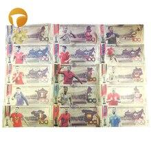 15 команд, русский сувенир, золотая банкнота, коллекция банкнот из золотой фольги 100 рубля для любителей футбола, подарки