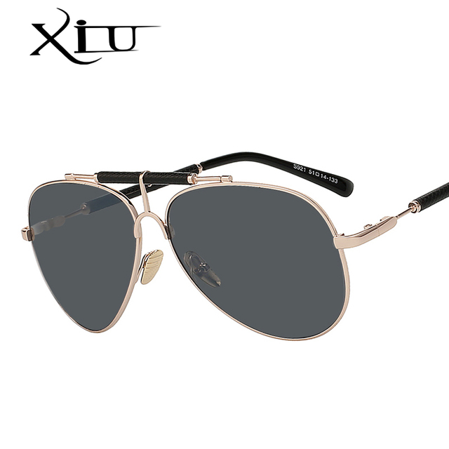 bb205d692be9 2017 New Leather Men Sunglasses Metal Frame High Quality Men s Glasses  Fashion Brand Designer Sunglasses Oculos UV400