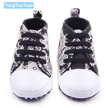 New Arrival Fashional Leopard And Stripe And Print Design 6 Colors Lace Up Baby Sneaker Canvas