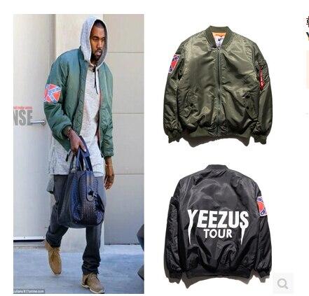 Hip Hop High Quality Mens Olive Green and Blue Bomber Jacket ...