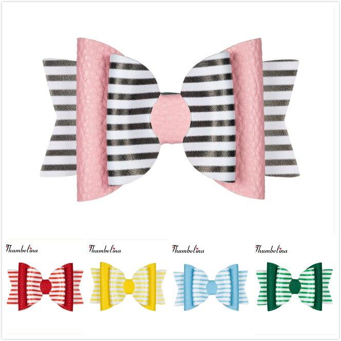 Thumbelina Rainbow Princess Hairgrips Glitter Hair Bows With Clip Dance Party Bow Hair Clip Girls Hair Accessories