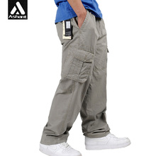 Men Casual Baggy Cargo Pants Male Spring Overall Man Clothing Plus Size XXL 4XL 5XL 6XL