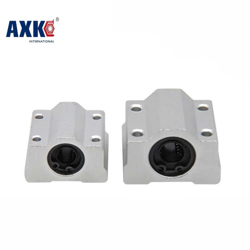 AXK SC8UU SC10UU SC12UU SC16UU Slide Unit Block Bearing Steel Linear Motion Ball Bearing Slide Bushing Shaft Router 3D Printer axk sc8uu scs8uu slide unit block bearing steel linear motion ball bearing slide bushing shaft cnc router diy 3d printer parts