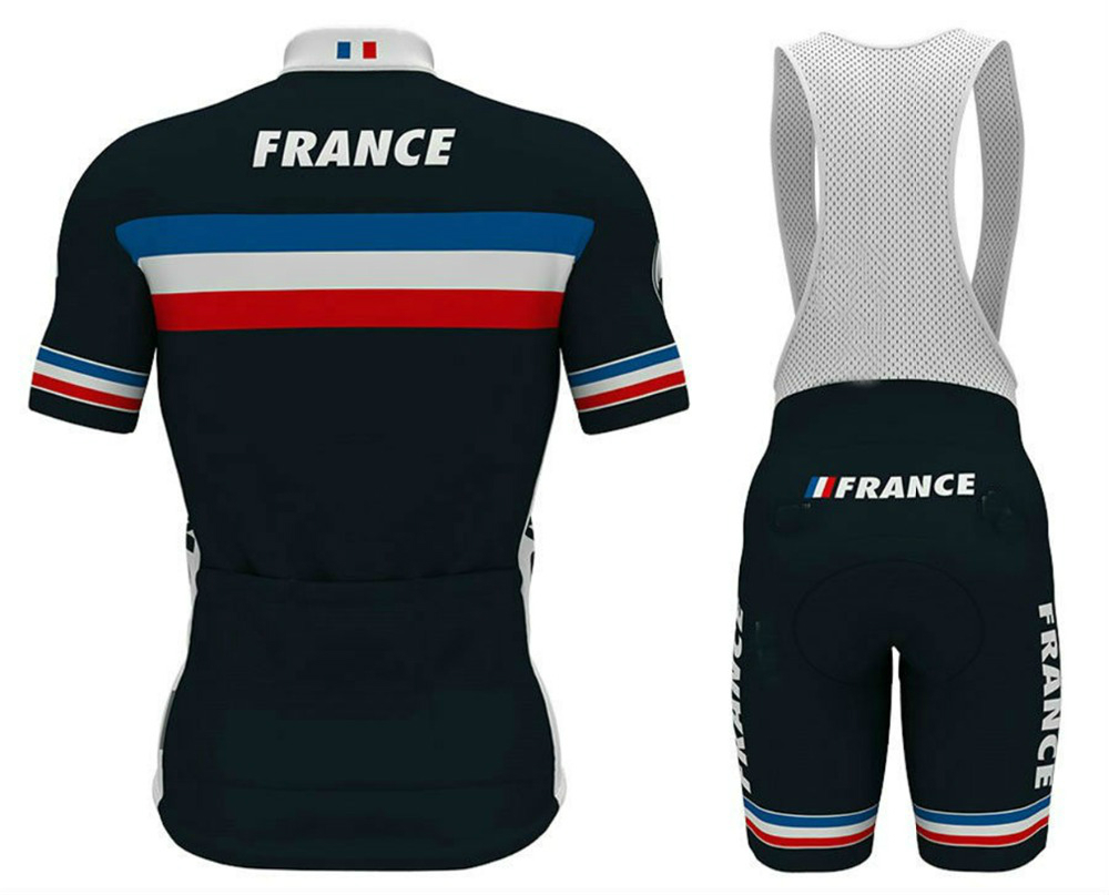 best sneakers cf8dc 83a56 2018 French black National Team pro Cycling Jersey breathable quick summer  bike wear MTB Ropa Ciclismo cycling clothing-in Cycling Sets from Sports &  ...
