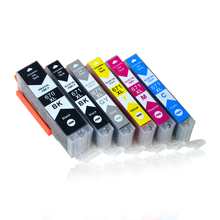 6pcs Luocai for canon PGI670 CLI671 PGI 670 CLI 671 compatible ink cartridge for canon PIXMA MG5766 inkjet Printer 670 6 color empty ciss suit for pgi670 cli671 ciss suit for canon pixma mg5760 mg5765 mg5766 etc with arc chips