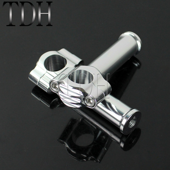 Motorcycles Black/Silver Aluminum 1 inch Handlebar Riser 25mm Bar Mount Rough Craft Riser for Harley Touring Cafe Racer