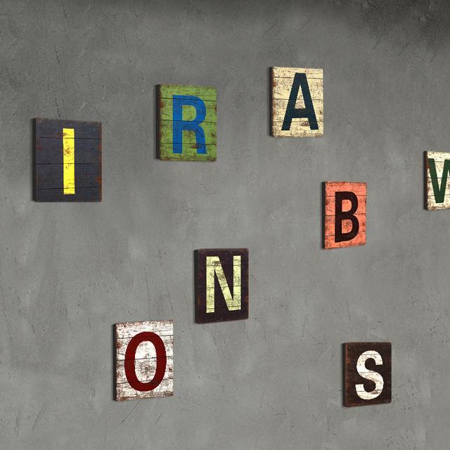 Retro Wooden English Letters Figurine