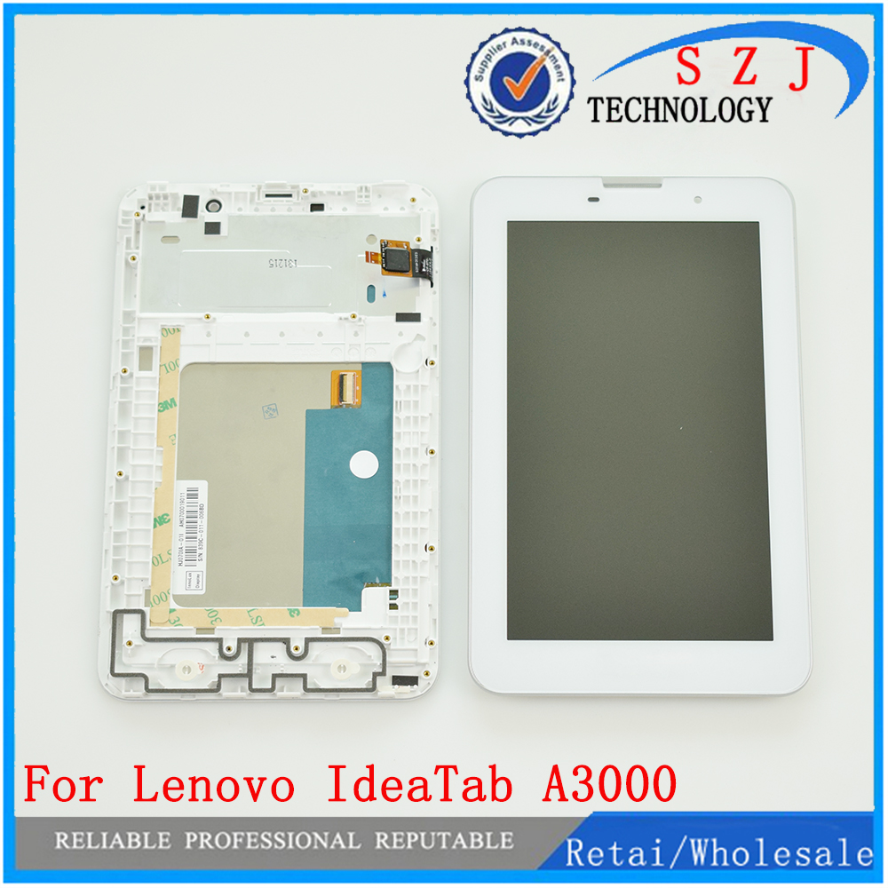 New For Lenovo IdeaTab A3000 A3000-H Replacement LCD Display Touch Screen with Frame Assembly 7 inch Free Shipping чехол для планшета generic congelados 7 7 lenovo ideatab a5000 a3000 a1000 for 7 lenovo ideatab a5000 a3000 a1000 tablet