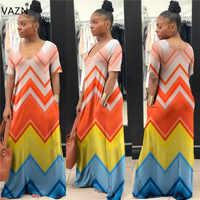 c848bedde974d7a VAZN Лидер продаж отпуск Для женщин личности О-образным вырезом короткий  рукав макси платье элегантный