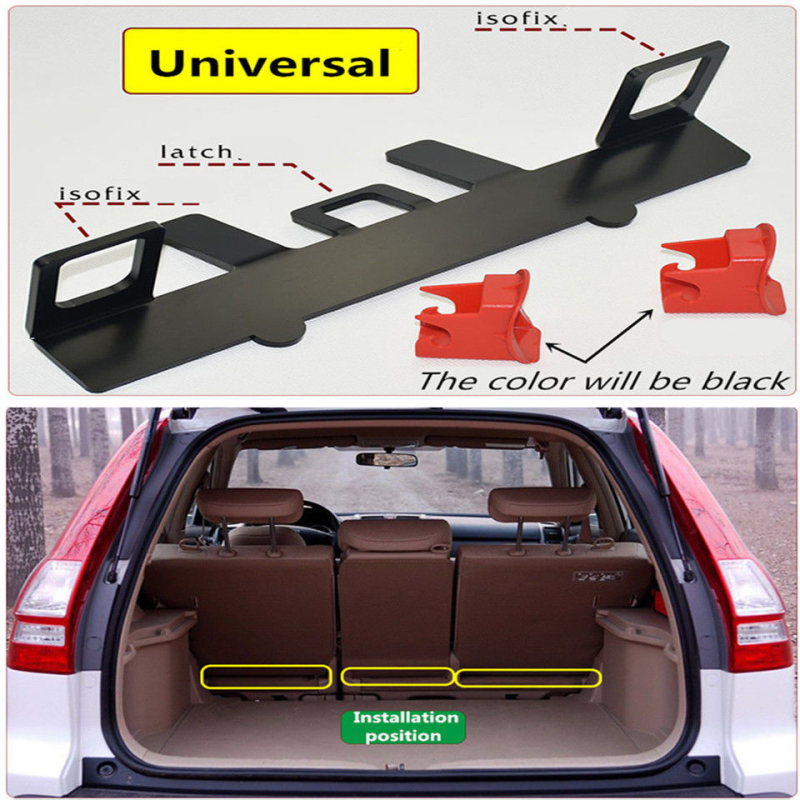 Universal Latch ISOFIX Belt Guide Bracket For Child Safety Seat On Compact SUV universal child safety seat latch isofix seat belt interfaces guide retainer bracket for peugeot honda for kia mazda for ford vw