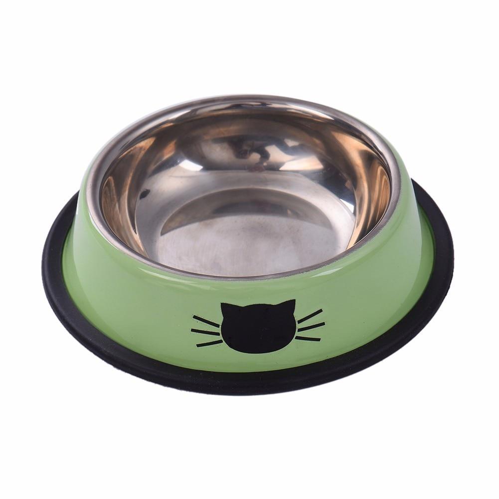 designer dog dishes promotionshop for promotional designer dog  - pet dog bowl stainless steel antiskid bottom design cat patterndogcatbowl puppy doogie food container feeder dish