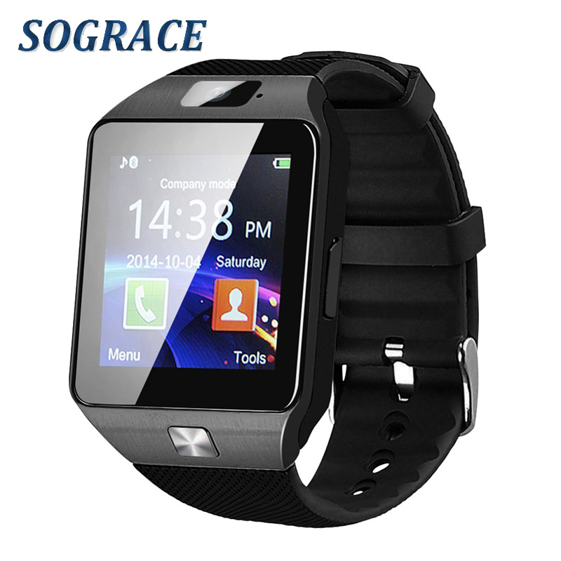 2eebf921cd9 Sograce Smartwatch DZ09 Relogio Bluetooth Smart Watch for Xiaomi iPhone  Samsung Android Phone Call 2G GSM SIM TF Card Camera-in Smart Watches from  Consumer ...