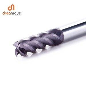 Image 3 - 1pc carburo di tungsteno end mill 4 flauti d1 d12 fine fresatura cnc utensili da taglio per il viso e lavorazione fessura hrc50 frese rivestite
