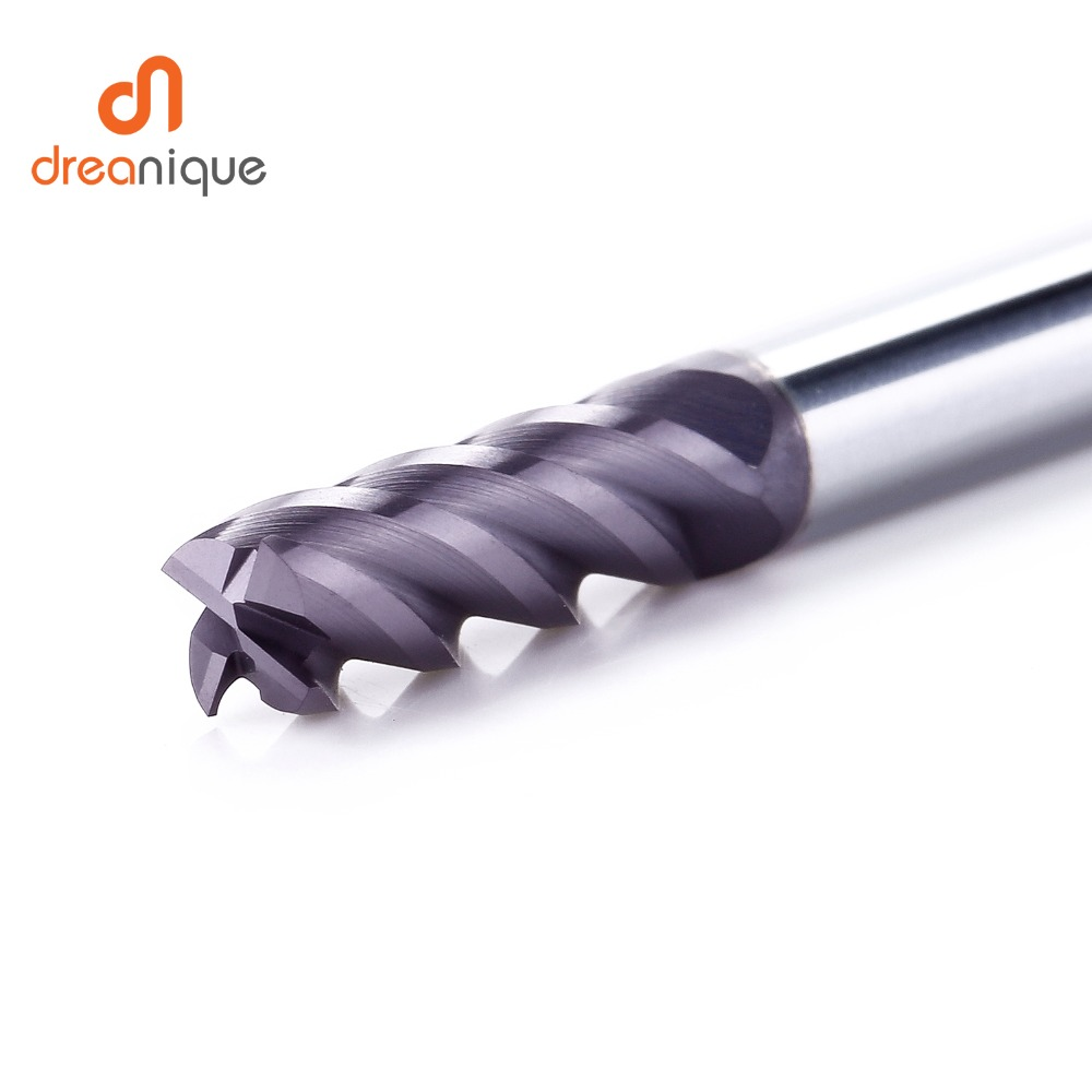 Image 3 - 1pc tungsten carbide end mill 4 flutes d1 d12 cnc end milling cutter tools for face and slot machining hrc50 coated end mills-in Milling Cutter from Tools