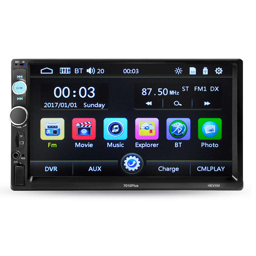 7 pulgadas coche Universal reproductor Multimedia 2 Din coche Radio HD Bluetooth MP5 reproductor de medios TF FM