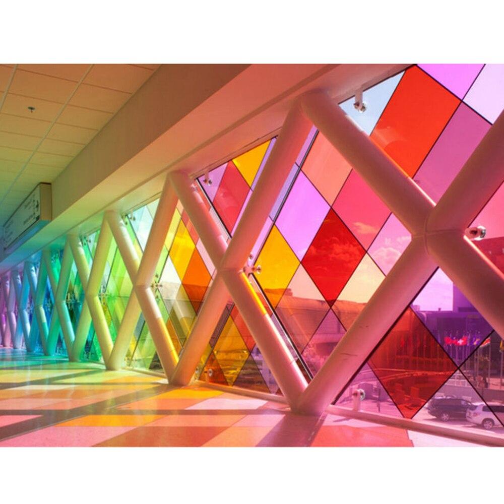 0.5x20 m Vermelho Transparente Janela Filme Matiz Vinil Decal Adesivo Auto adesivo de Vidro de controle de Calor para o Natal decoração Do Partido Do dia