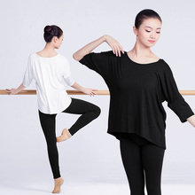 Women Blouse Batwing Tops Sport Yoga Clothing  Half Sleeve Solid Shirt Workout Cotton