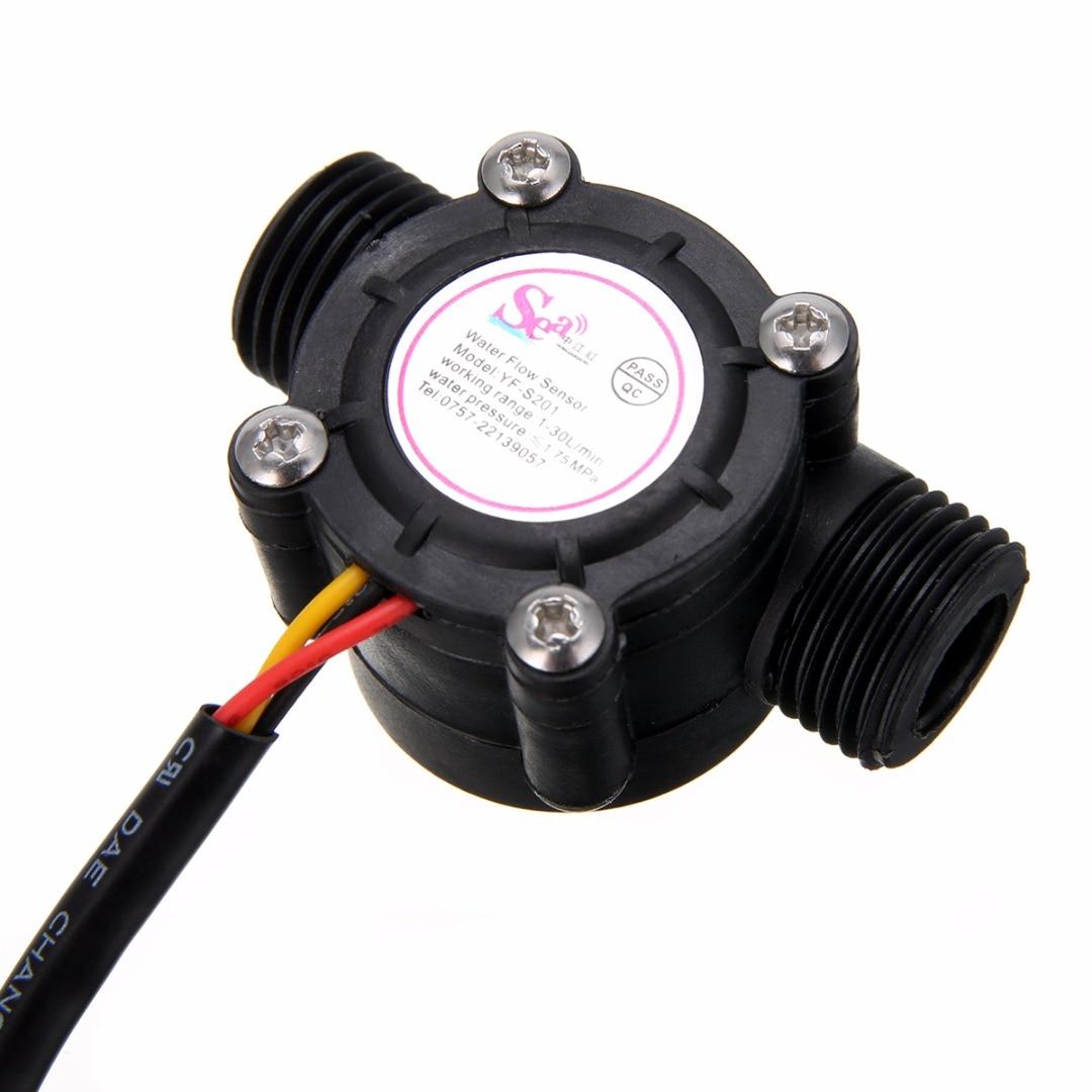 "1pc 1-30L/min Water Flow Sensor Flowmeter Hall Flow Sensor Water Control 1/2"" 2.0MPa For Arduino"
