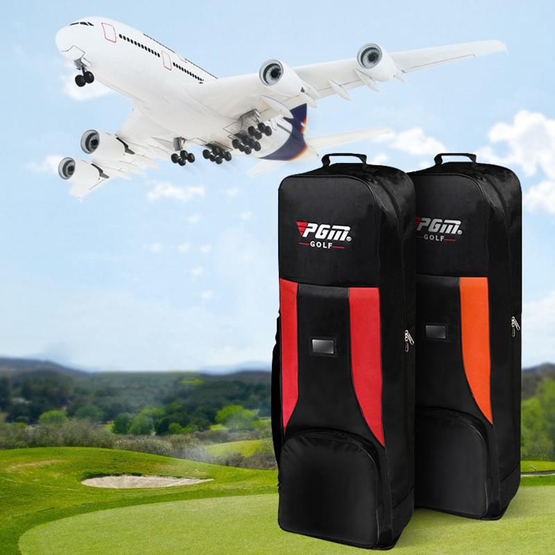 Pgm Folding Golf Aviation Bag Thickened Padded Aircraft With Pulley Golf Bag Travelling Large Capacity Airbags Package D0061