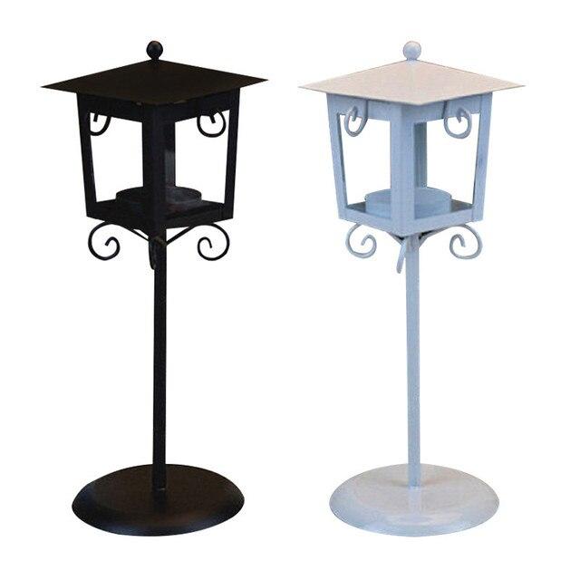 European Classic Stand Lantern Retro Style Candle Holder Wedding Lantern Party Decoration Romantic Feelings White & Black colors 2