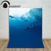 Allenjoy фотографии тема фон русалка легенда морской Дельфин рыбы морской воды фон фантазии Photocall профессиональный
